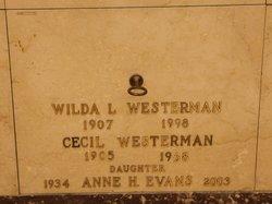 Anne H. <I>Westerman</I> Evans
