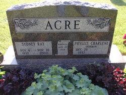 Phyllis Charlene <I>Dorman</I> Acre