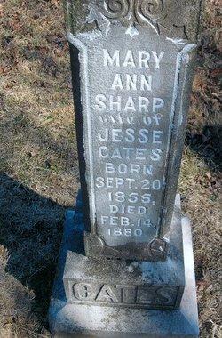 Mary Ann <I>Sharp</I> Cates