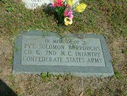 Pvt Solomon Burroughs