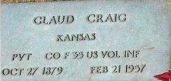 """Claud Ernest """"Claudie"""" Craig"""