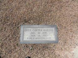 Effie Jane <I>Carter</I> Hardee