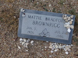 Mattie Leuna <I>Bradford</I> Brownrigg
