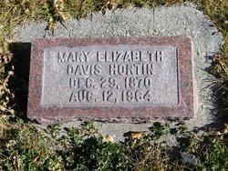 Mary Elizabeth <I>Davis</I> Hortin