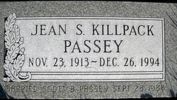 Jean S <I>Killpack</I> Passey