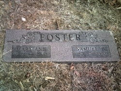 """Mary Ann """"Polly"""" <I>Bishop</I> Foster"""