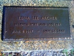 Edna Lee <I>Bishop</I> Archer