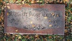 Margaret <I>Boone</I> Ackerman