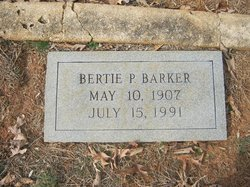 Bertie Mae <I>Pettus</I> Barker