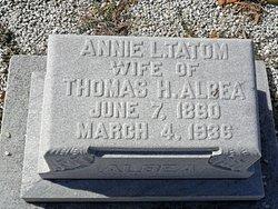 Annie Lamar <I>Tatom</I> Albea