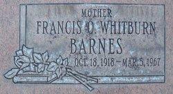 Frances Ora <I>Whitburn</I> Barnes