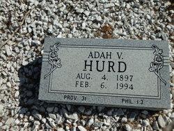Adah V <I>Snyder</I> Hurd