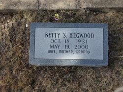Betty Sue <I>Moore</I> Hegwood