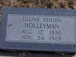 "Lennie Lillian ""Lillian"" <I>Denton</I> Holleyman"