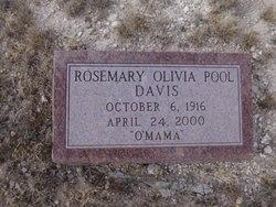 """Rosemary Olivia """"O MAMA"""" <I>Pool</I> Davis"""
