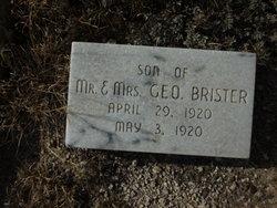 Infant Son Brister