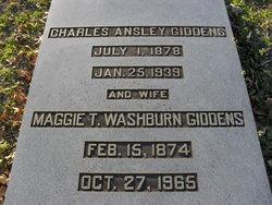 Maggie T <I>Washburn</I> Giddens