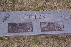 Alta Barlow <I>Hutchison</I> Fields
