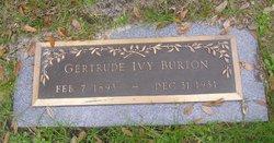 "Gertrude Ivy ""Trudie"" <I>Smith</I> Burton"