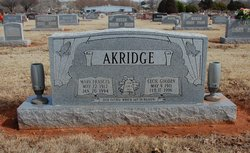 """Mary Frances """"Frances"""" <I>Wilcoxson</I> Akridge"""