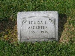 Louisa F <I>Sutter</I> Aegerter