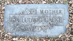 Ida <I>Ludwig</I> Gaeke