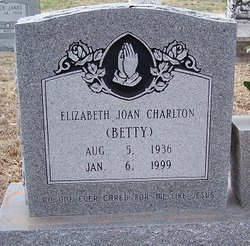 "Elizabeth Joan ""Betty"" <I>Thedford</I> Charlton"