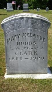 Mary Josephine <I>Hobbs</I> Clark