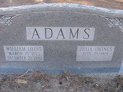 Julia <I>Owings</I> Adams