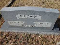 Lillie Dale <I>Thompson</I> Brown