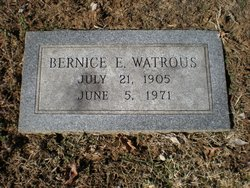 Bernice E Watrous