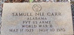 Pvt Samuel Nix Carr
