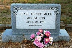 Pearl <I>Henry</I> Meek