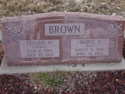 Mabel Bessie <I>Baze</I> Brown