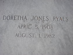 Doretha <I>Jones</I> Ryals