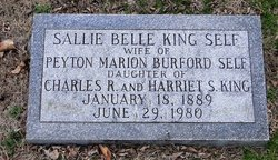 Sallie Belle <I>King</I> Self