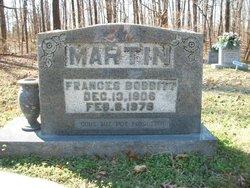 Frances <I>Bobbitt</I> Martin