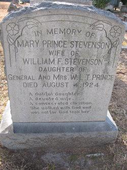 Mary <I>Prince</I> Stevenson