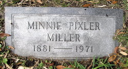 Minnie <I>Pixler</I> Miller