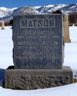Mathilda Christina <I>Lilajah</I> Matson