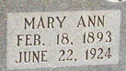 Mary Ann <I>Oglesby</I> Adams