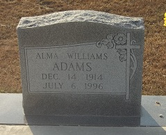 Alma <I>Williams</I> Adams