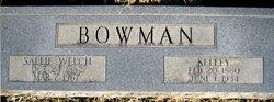 Sallie <I>Welch</I> Bowman