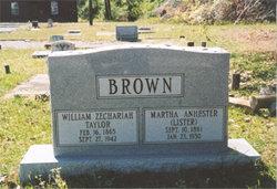 Martha Anhester <I>Lister</I> Brown