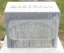 May Delilah <I>Wyatt</I> Marshall