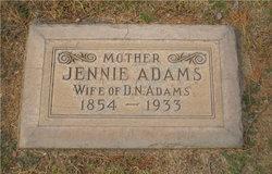 Jennie <I>Armfield</I> Adams