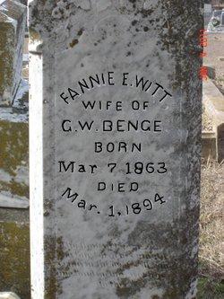 Fannie E. <I>Witt</I> Benge