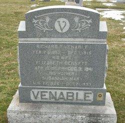 Susannah Mary <I>Weinel</I> Venable