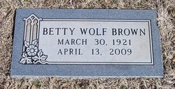 Betty <I>Wolf</I> Brown