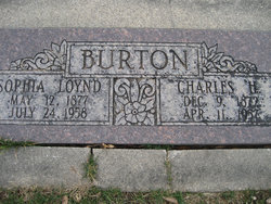 Sophia Mary <I>Loynd</I> Burton
